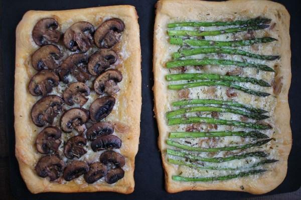 Asparagus and Mushroom Tarts