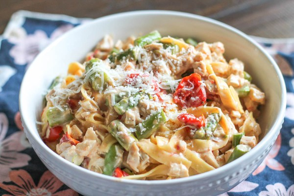 Roasted Vegetable and Chicken Pasta-3
