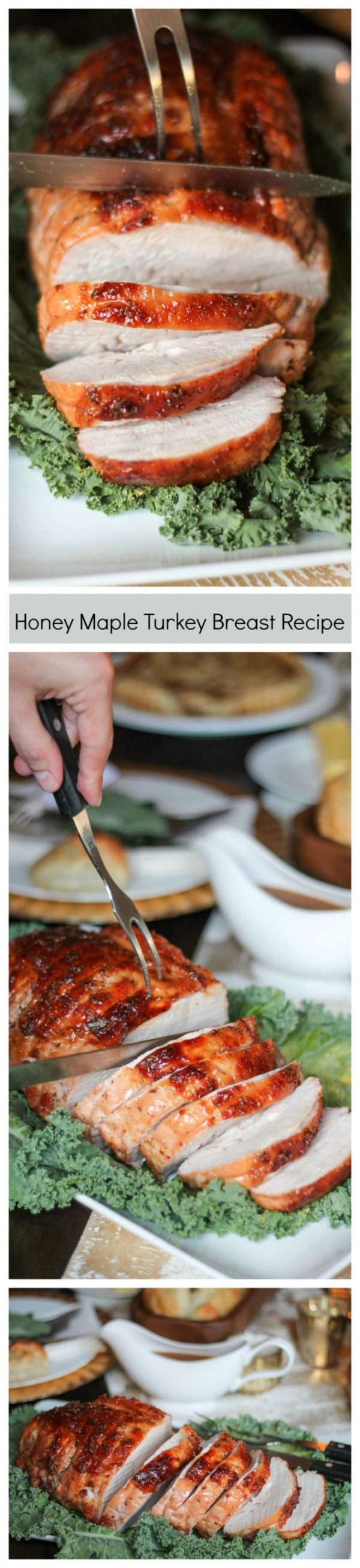 The easiest way to prepare turkey on Thanksgiving day! This delicious foolproof Honey Maple Turkey Breast recipe will be the star of the show on Thanksgiving.