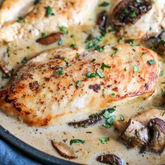 Chicken with a Sherry Mushroom Sauce