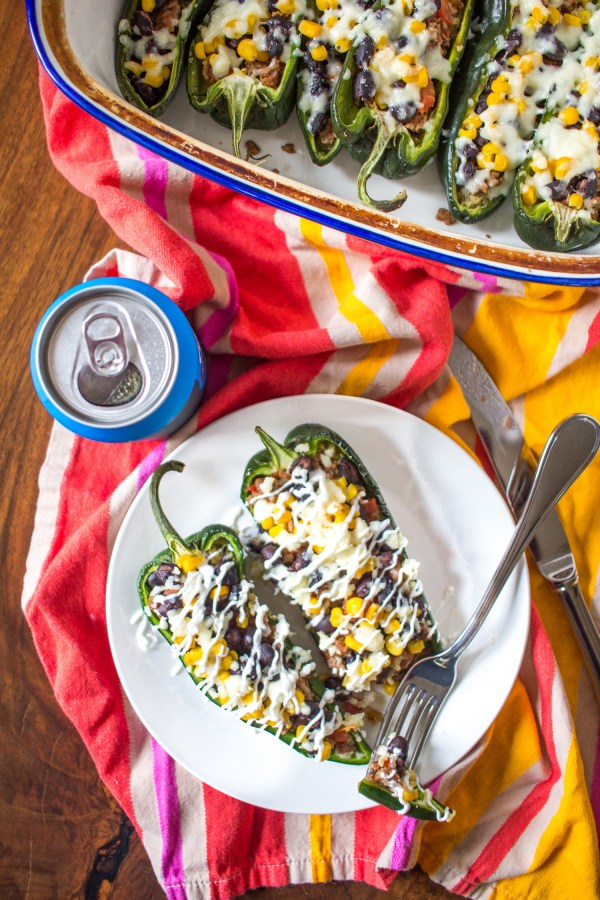 Beef Stuffed Poblano Peppers - easy weeknight dinner
