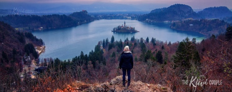 Slovenia Lake Bled Lookout by The Kiwi Couple