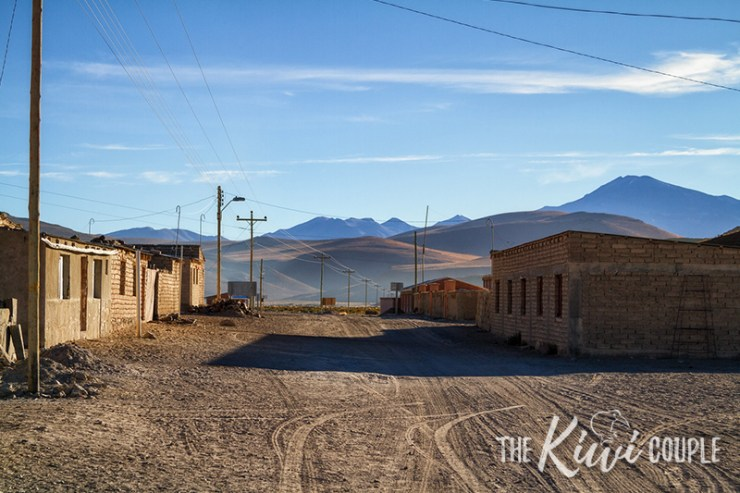 Two Bolivian buildings in the middle of nowhere.
