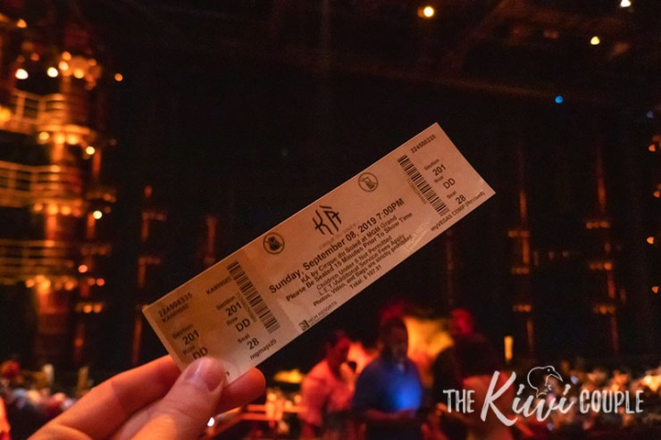 Ticket of KA, Cirque Du Soleil show