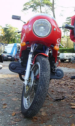 Alfa Romeo boxer powered motorcycle