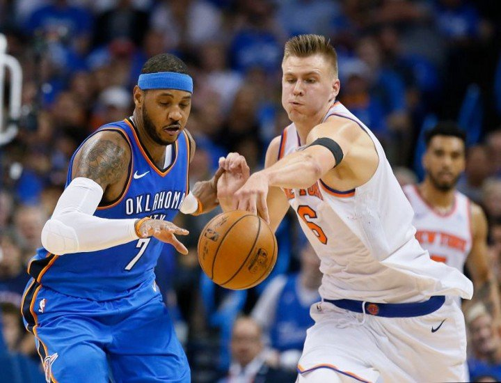 Porzingis Rises But Bottom Falls Out from Under Knicks in OKC