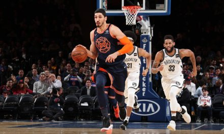 Knicks Dominate Nets Led by Kanter's 20-20