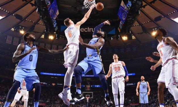 Knicks Begin Road Trip in Memphis