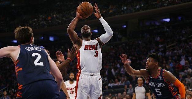 Dwyane Wade Makes Final Garden Appearance as Heat Narrowly Defeat Knicks