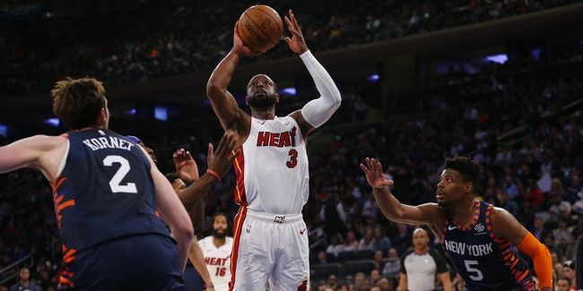 Dwyane Wade Makes Final Garden Appearance as Heat Narrowly Defeat Knicks