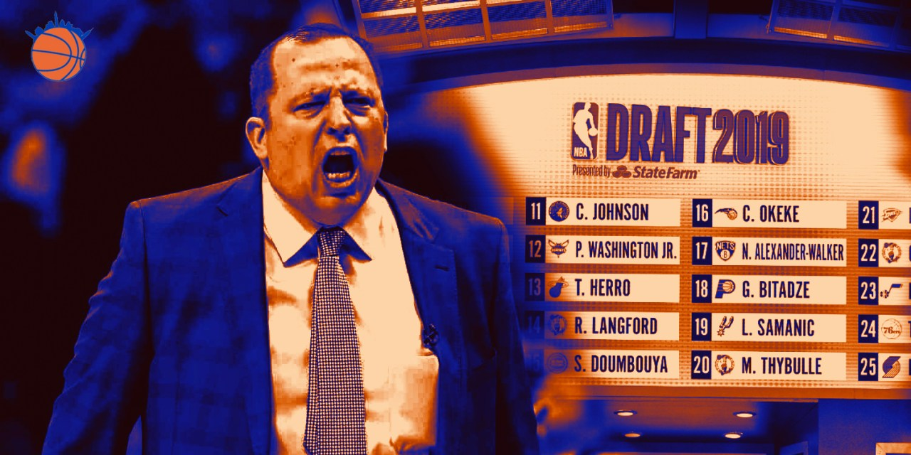 Will Tom Thibodeau Impact the Knicks' Draft Plans?