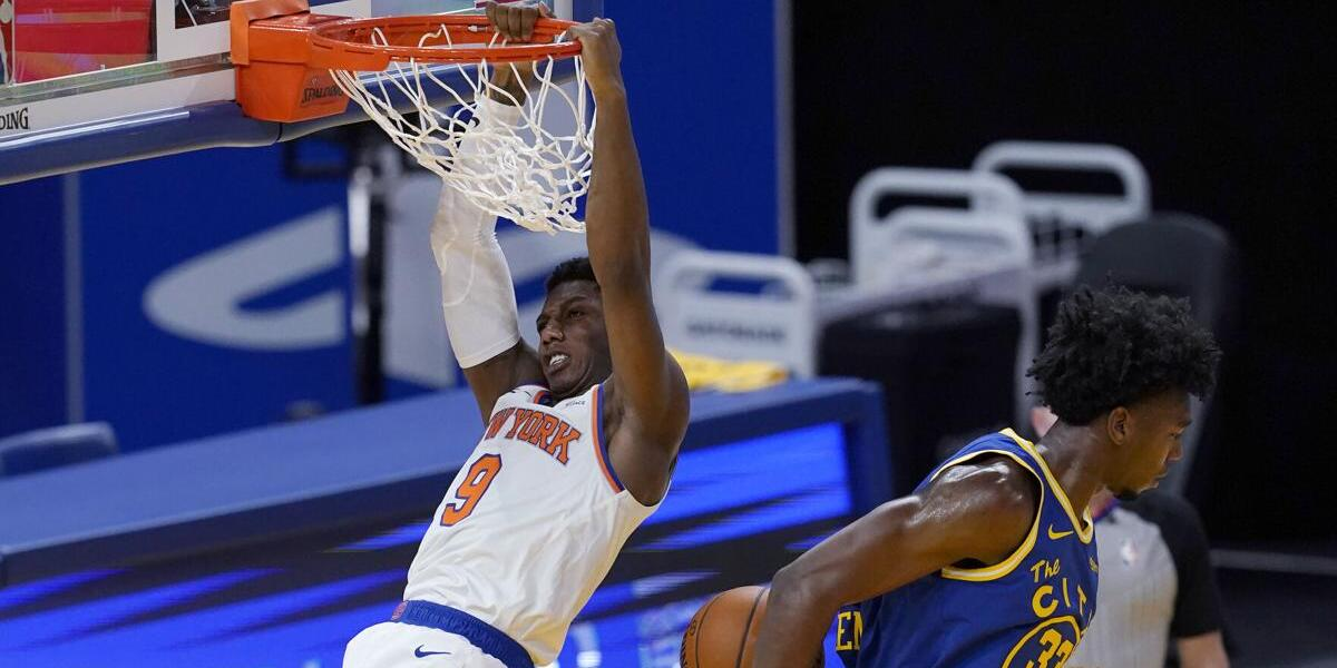 RJ Barrett Scores Career High, Knicks Stomp Warriors for Third Straight Win