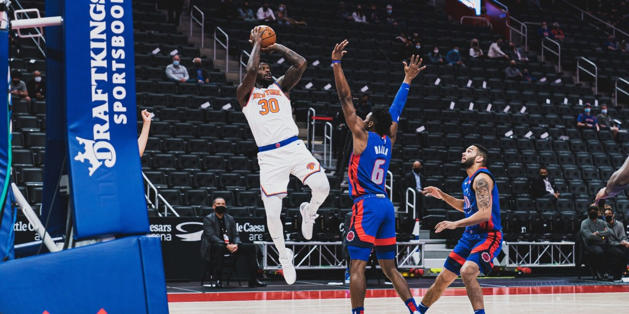 Knicks Drown Pistons With Sharpshooting, Salvaging Recent Skid