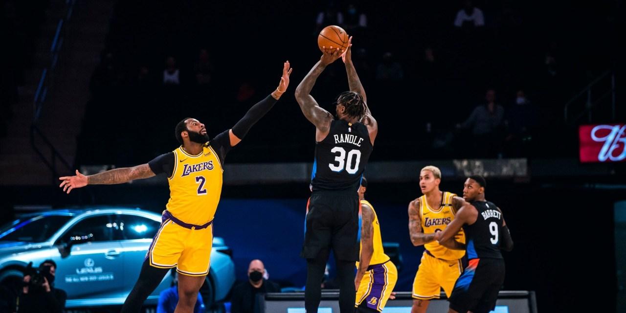 Knicks Cap Off Road Trip Against Struggling Lakers
