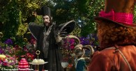 "In this image released by Disney, Sacha Baron Cohen, left, and Johnny Depp appear in a scene from ""Alice Through The Looking Glass."" (Disney via AP)"