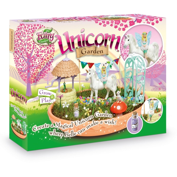 My fairy Garden- unicorn garden review