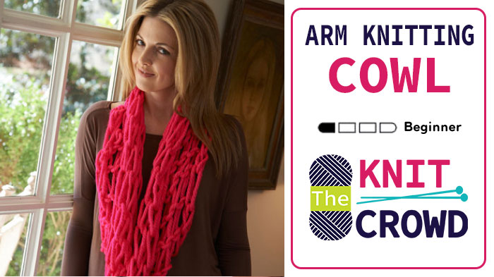 Arm Knitting Cowl