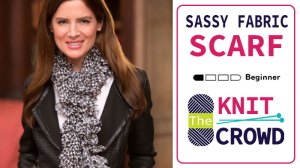 Knit Sassy Fabric Scarf
