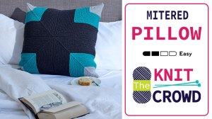 Knit Mighty Miter Pillow Pattern