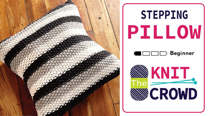 Knit Stepping Stripes Pillow
