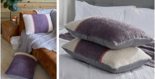color block knitted pillows free
