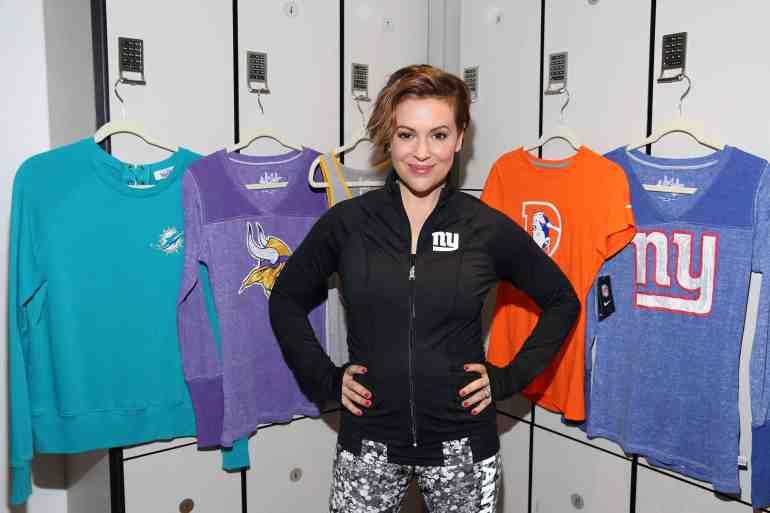 innovative design 45b8b 7160e Alyssa Milano Celebrates New NFL Women's Apparel Collection ...