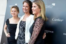 Renee Zellweger, Christy Turlington-Burn and Lauren Bush at 2017 Changemaker Gala in Greenwich Ct