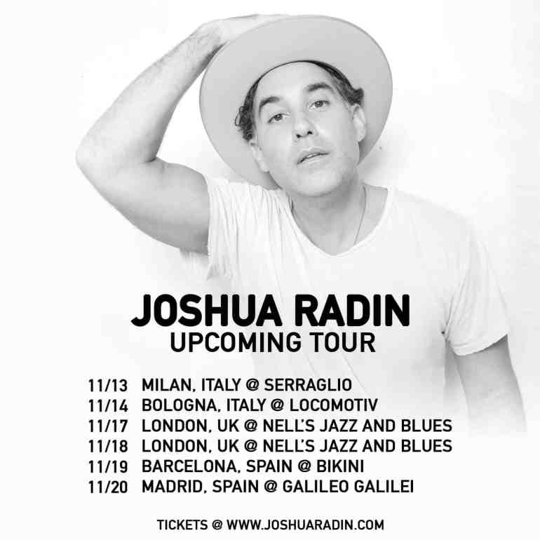 Concert Review: Joshua Radin Triumphantly Returns to London - The