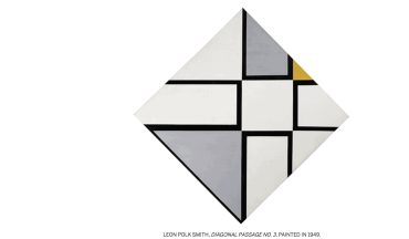 LEON POLK SMITH, DIAGONAL PASSAGE NO. 3, PAINTED IN 1949. at Sotheby's S|2 Gallery