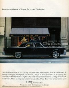 Car advertisement - Lincoln Continental