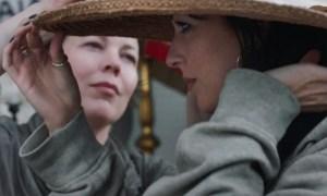 Dakota Johnson and Olivia Colman in The Lost Daughter