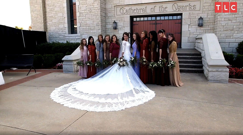 Jinger Duggar's Wedding Dress Designer On Why Train Was So