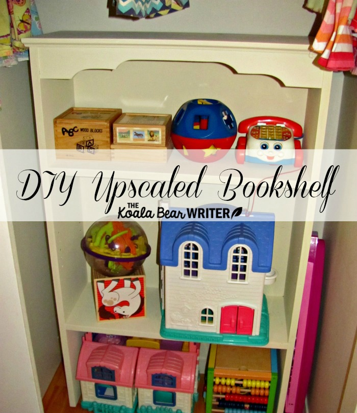 DIY Upscaled Bookshelf with kids' toys