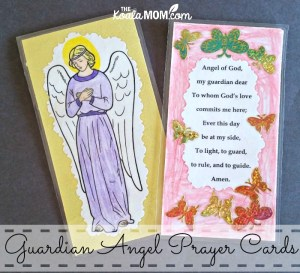 Make Guardian Angel Prayer Cards
