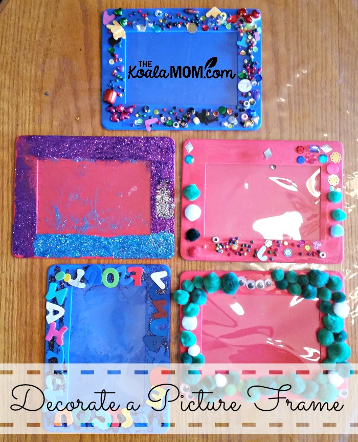 Decorate a Picture Frame • The Koala Mom