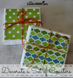 Decorate a Set of Coasters or Trivets