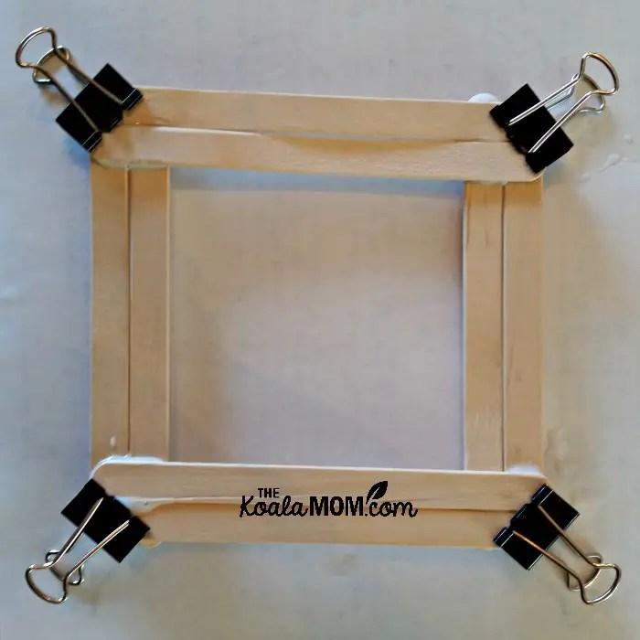 Make a Popsicle Stick Picture Frame • The Koala Mom