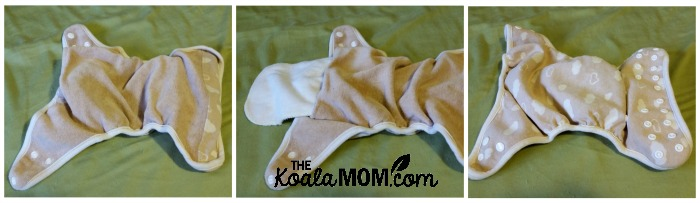 KaWaii baby diaper - inside, inside with insert, and outside