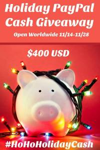 Ho Ho Holiday PayPal Cash Giveaway!