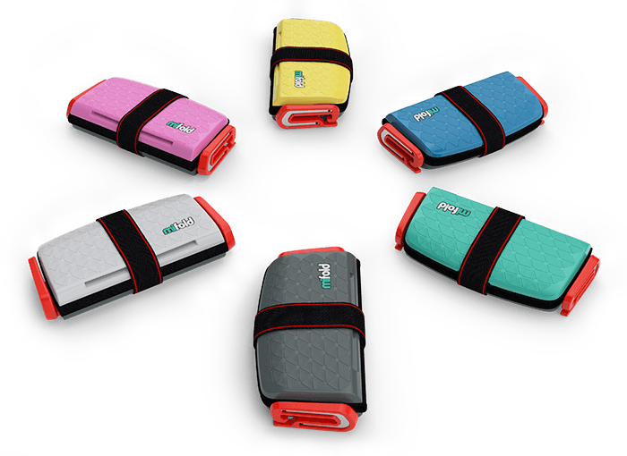 Mifold booster seats in six cool colours