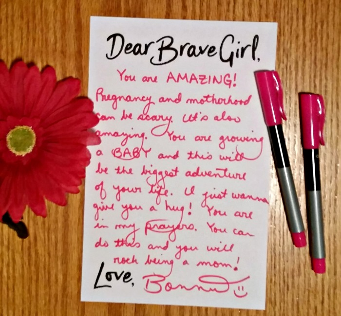 My brave girl letter for Embrace Grace