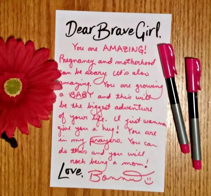 My brave girl letter for Embrace Grace