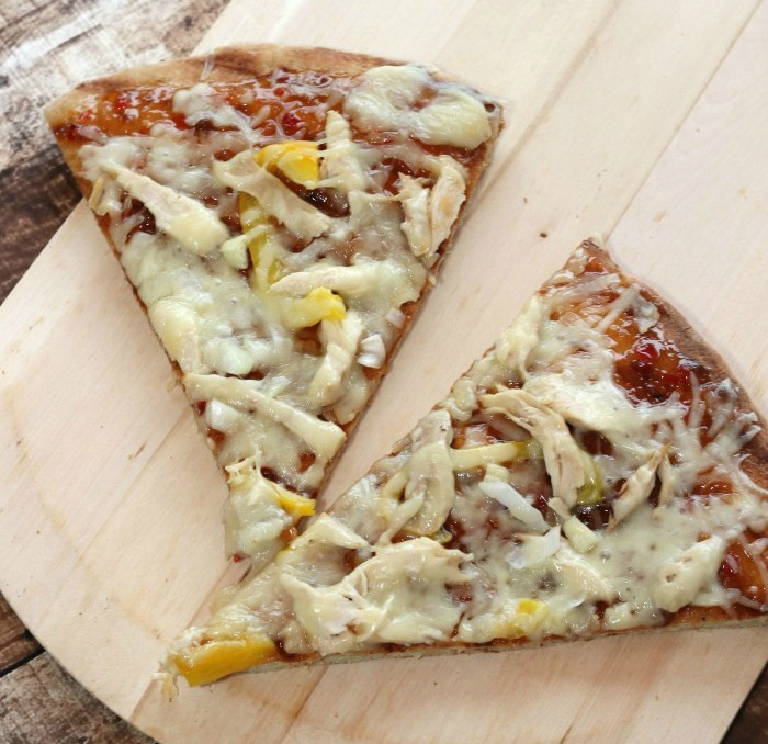 Sweet Chili Chicken Pizza on the Grill