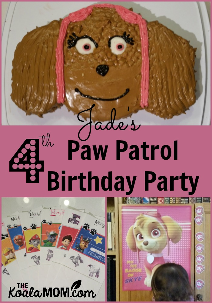 Jade's 4th Paw Patrol Birthday Party
