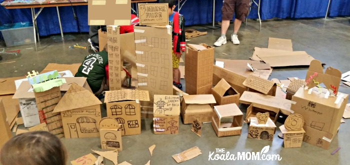 The DK Books Cardboard Village at the 2017 Vancouver Mini Maker Faire