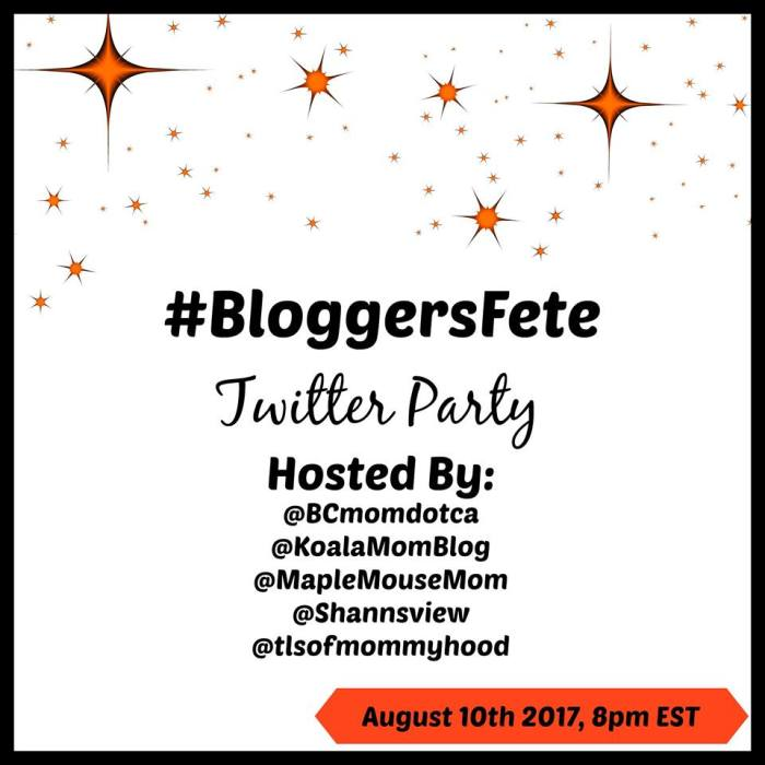 BloggersFete 2017 Twitter Party RSVP