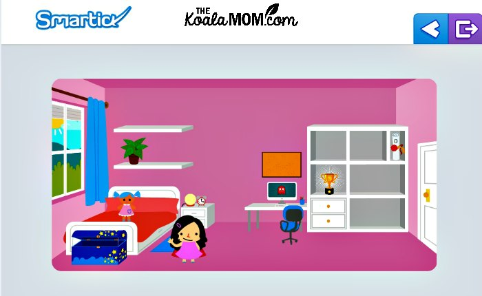 Lily's virtual room on Smartick