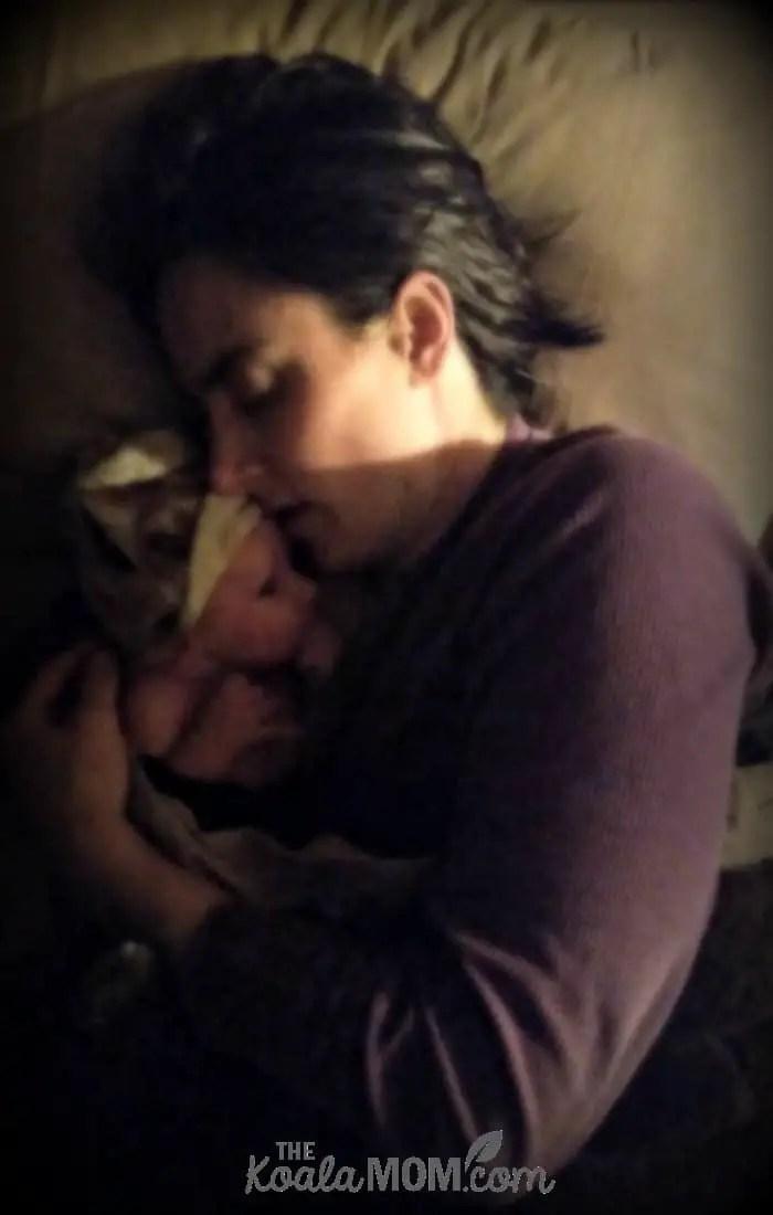 Bonnie Way with her newborn baby boy