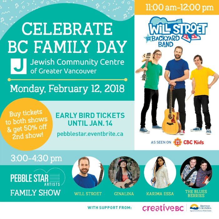 Celebrate BC Family Day with two amazing concerts from Pebble Star Artists!
