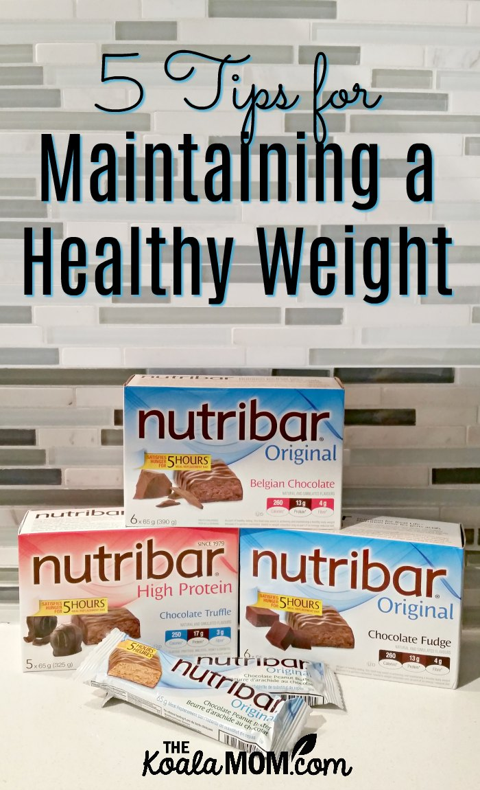 5 Tips for Maintaining a Healthy Weight with Nutribar
